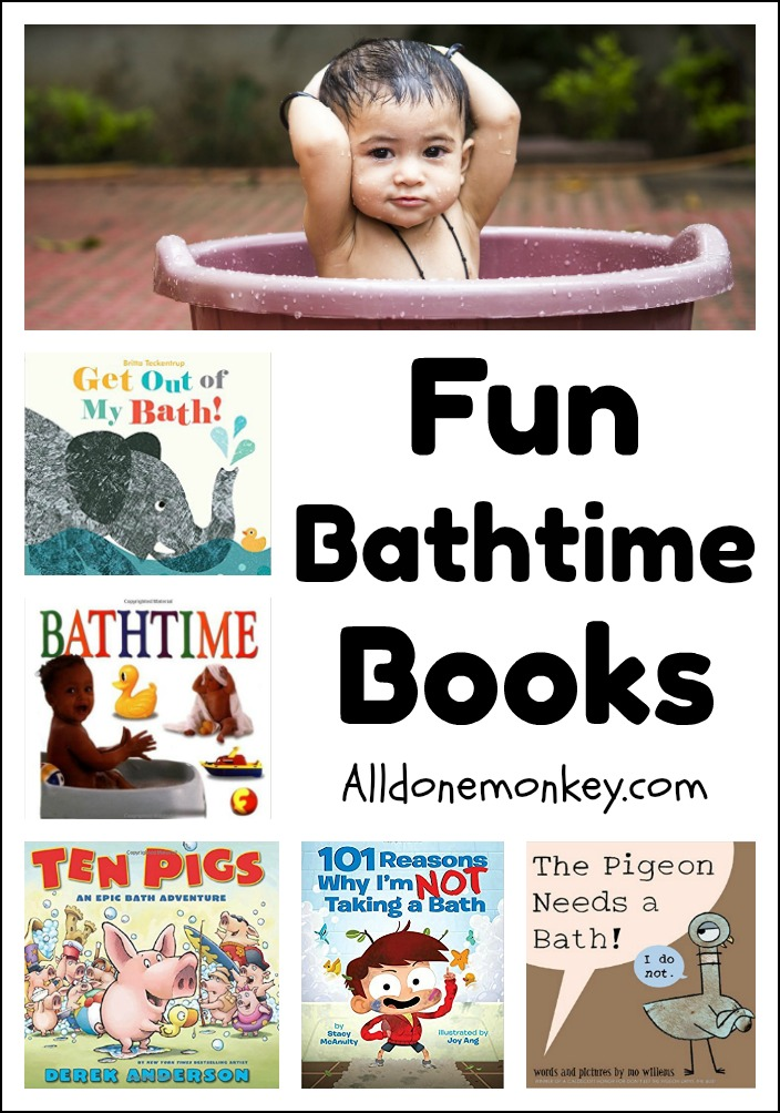 Fun Bathtime Books Your Child Will Love | Alldonemonkey.com