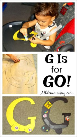 Toddler Letter Craft and Activity: G Is for Go