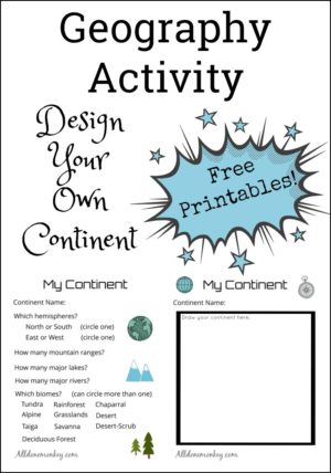Geography Activity for Kids: Design a Continent