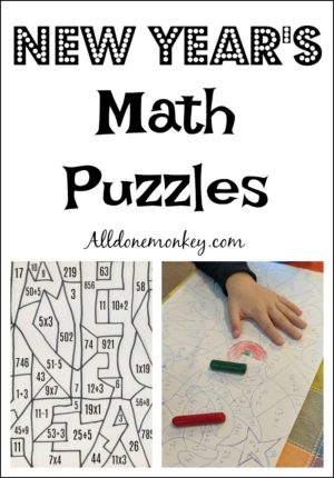 New Year's Math Puzzles for Winter Break Fun